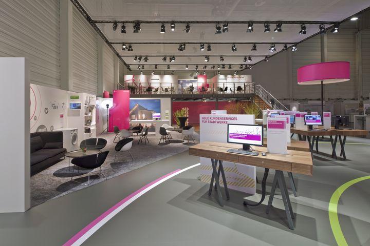 Deutsche Telekom stand by Hartmann Vonsiebenthal at E