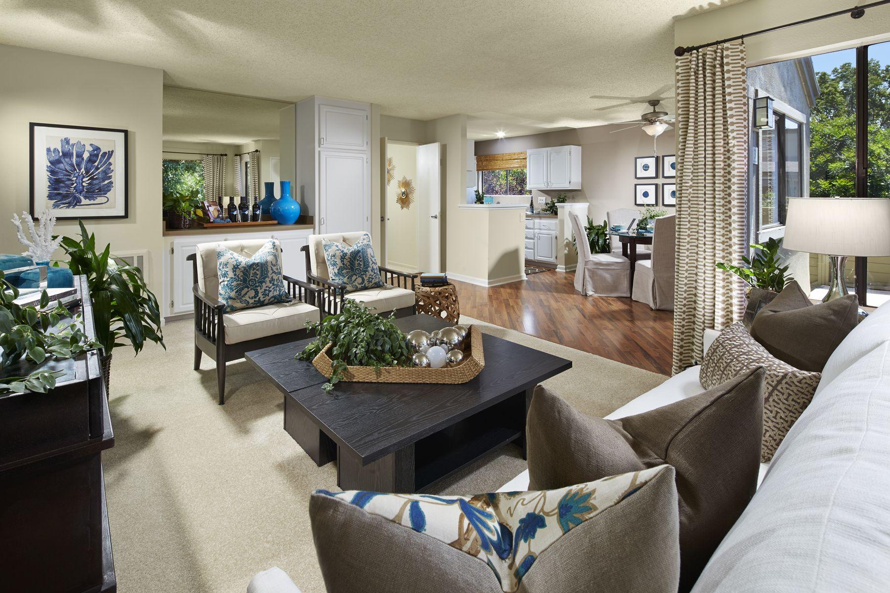 2 Bedroom Model At Woodbridge Apartments In Irvine Ca Wood Bridge Outdoor Furniture Sets Apartment