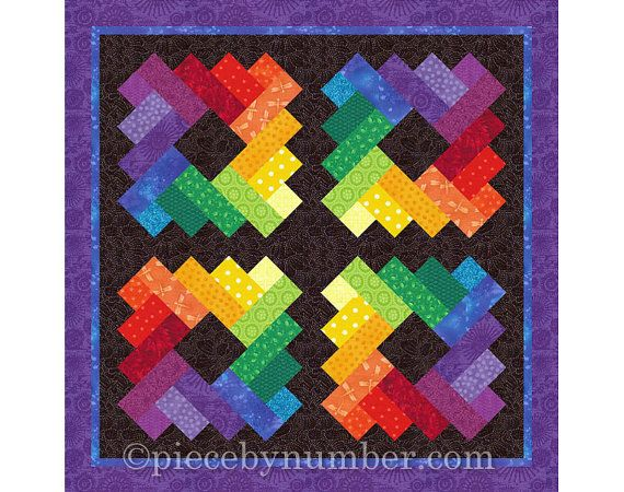 Siena Square Quilt Block Pattern Paper By Piecebynumberquilts All