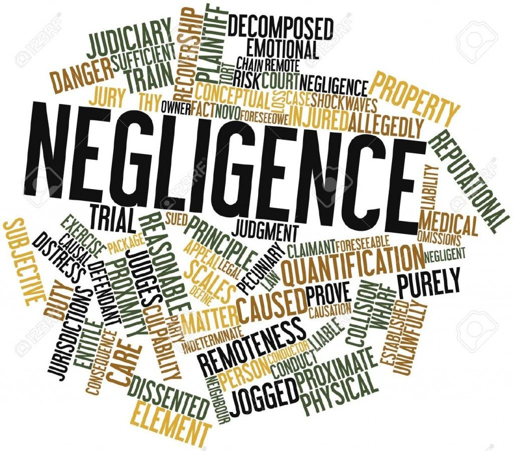 Negligence is something that we often associated with