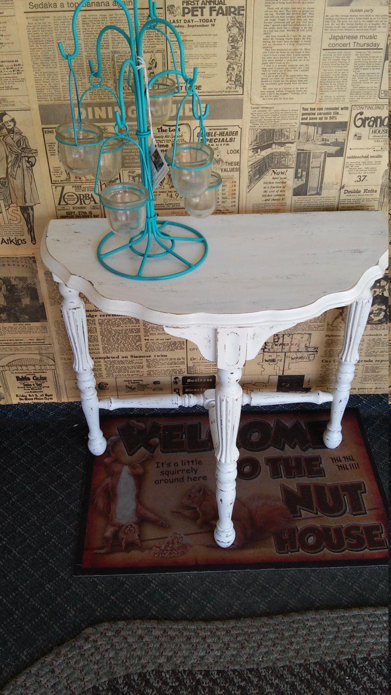Free Shipping Wedding,Home Decor Shabby Chic Distressed Vintage Half Moon  Tableu2026
