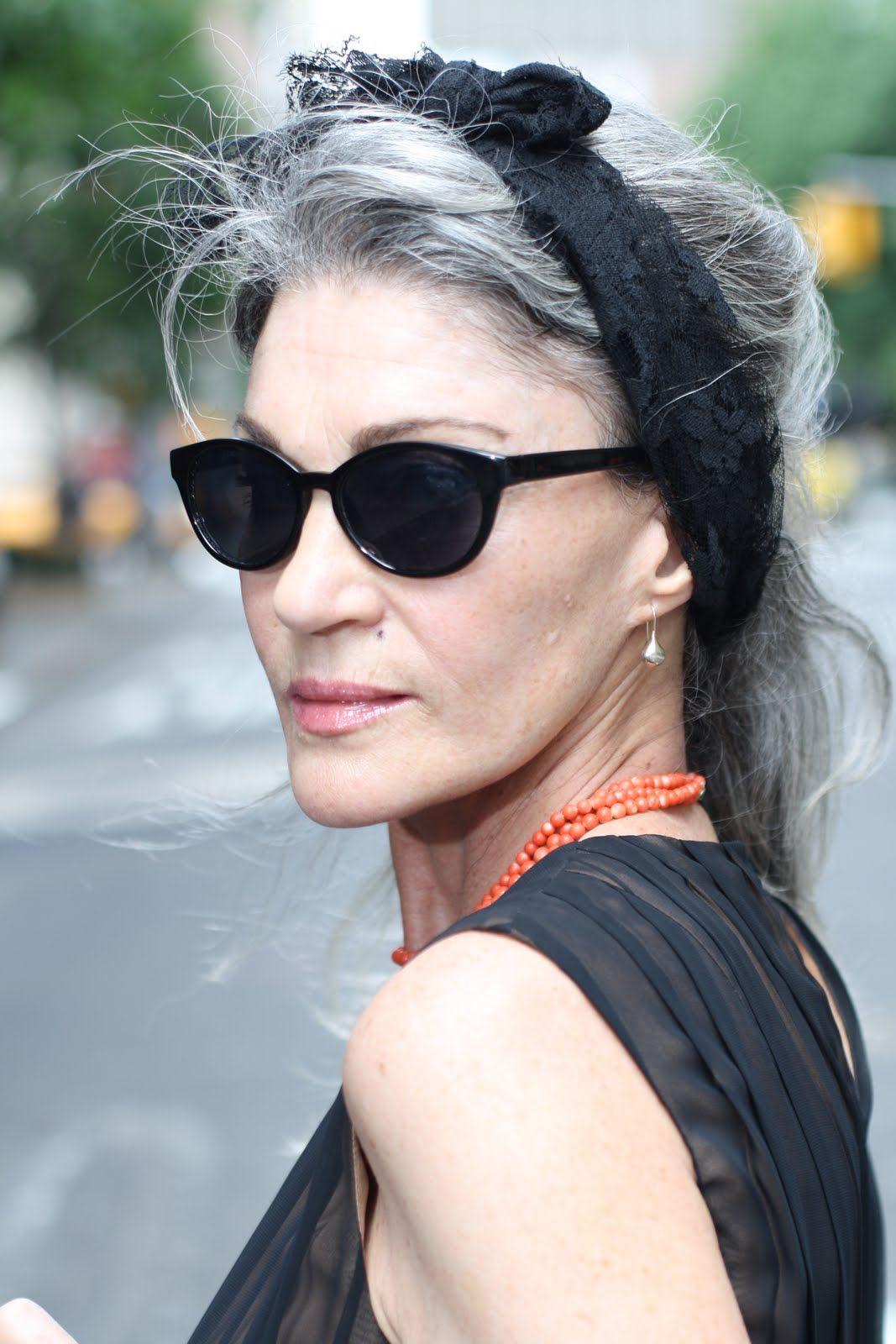The Glamorous Advanced Style Ladies Women Beautiful Gray Hair Long Gray Hair Advanced Style