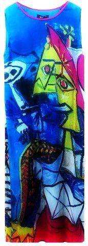 Silk Abstract Print Dress