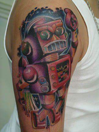 Tattoo Of Robot Tattoos Pinterest Robot And Tattoo
