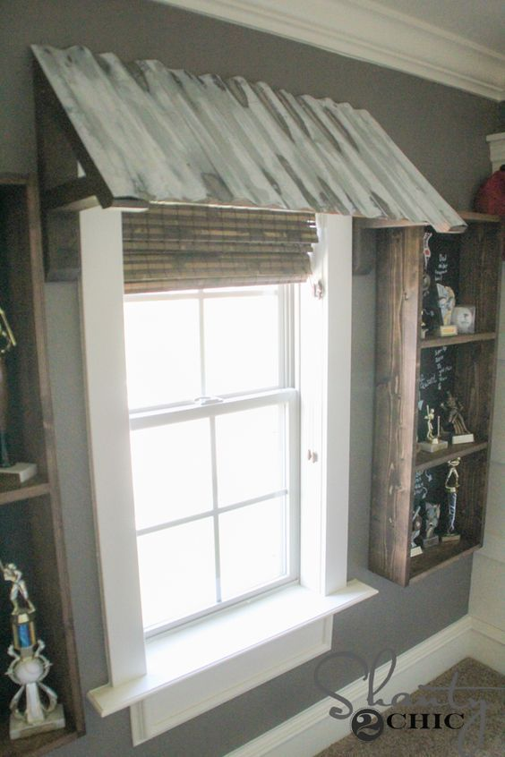 Diy corrugated metal awning metal awning window treatments and window sciox Image collections