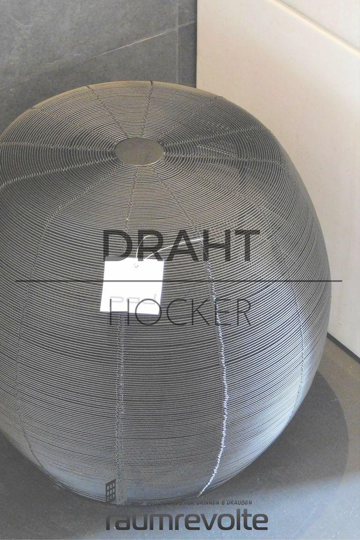pad Hocker Wire originelles Draht-Design 37x40 schwarz In-/Outdoor ...