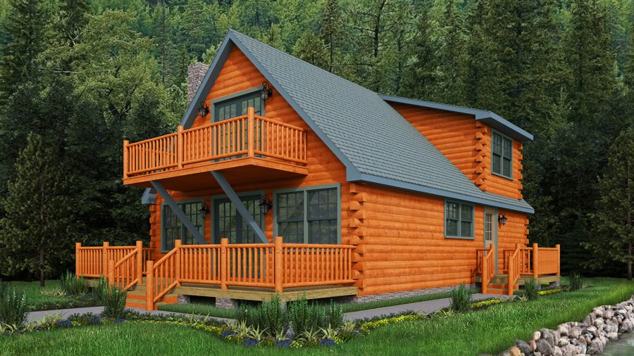 U201cOur Westchester Log Cabin Kit; An Adorable Log Home Kit With A Very Open  Kitchen To The Dining Room And Great Room., 3 Bedrooms And 2 Baths.