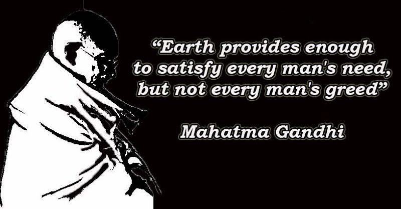 Gandhi Quotes On Greed Quotesgram Greed Quotes Gandhi Quotes Money Quotes