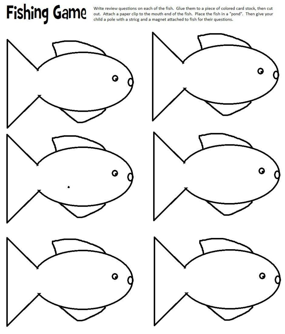 Layers Of Learning Fish Template Fish Printables Fishing Games For Kids