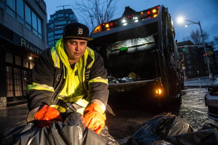 Bronx sanitation worker may haul a lot of trash, but her
