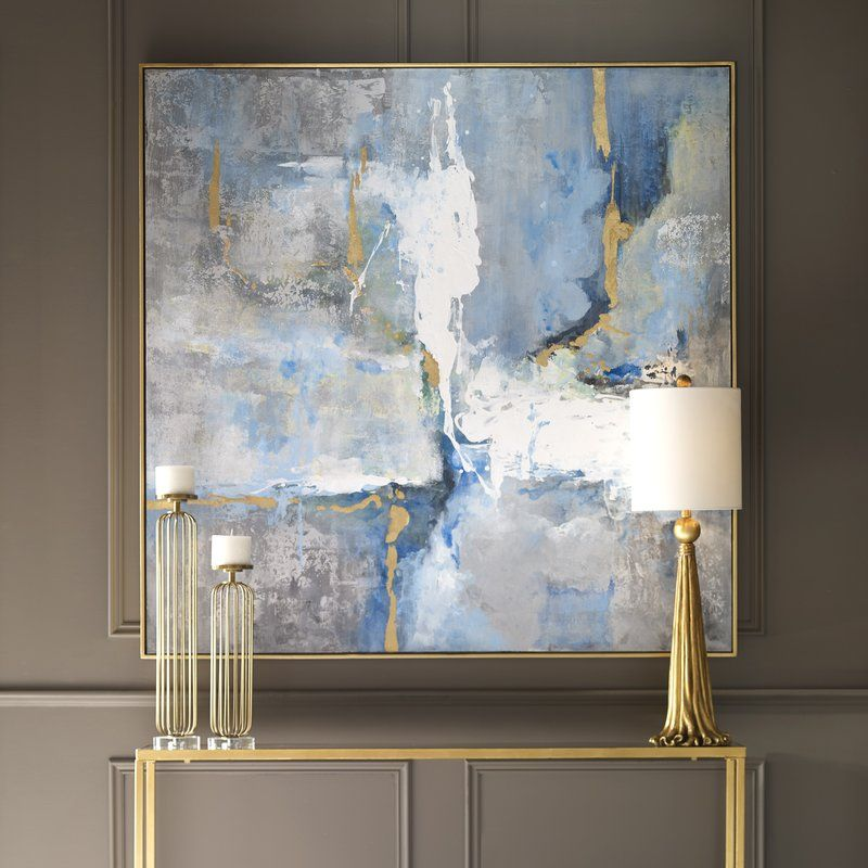 Mediterranean Framed Print On Canvas Abstract Art Painting Modern Art Paintings Abstract Canvas Painting