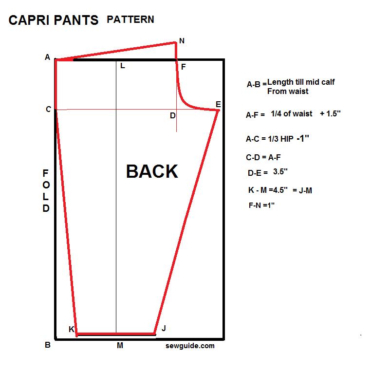 Easy Capri Pants Pattern Sewing Tutorial Pants Pattern Capri