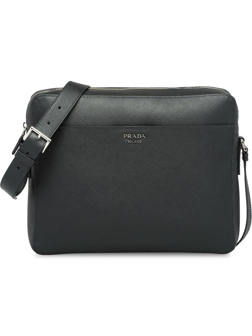 8640ccf384e2 PRADA PRADA SAFFIANO LEATHER SHOULDER BAG - BLACK.  prada  bags  shoulder  bags  leather