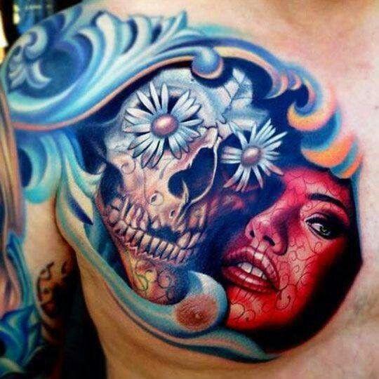 Tatuaje en el pecho Dibujos Pinterest Tatuajes y Dibujo