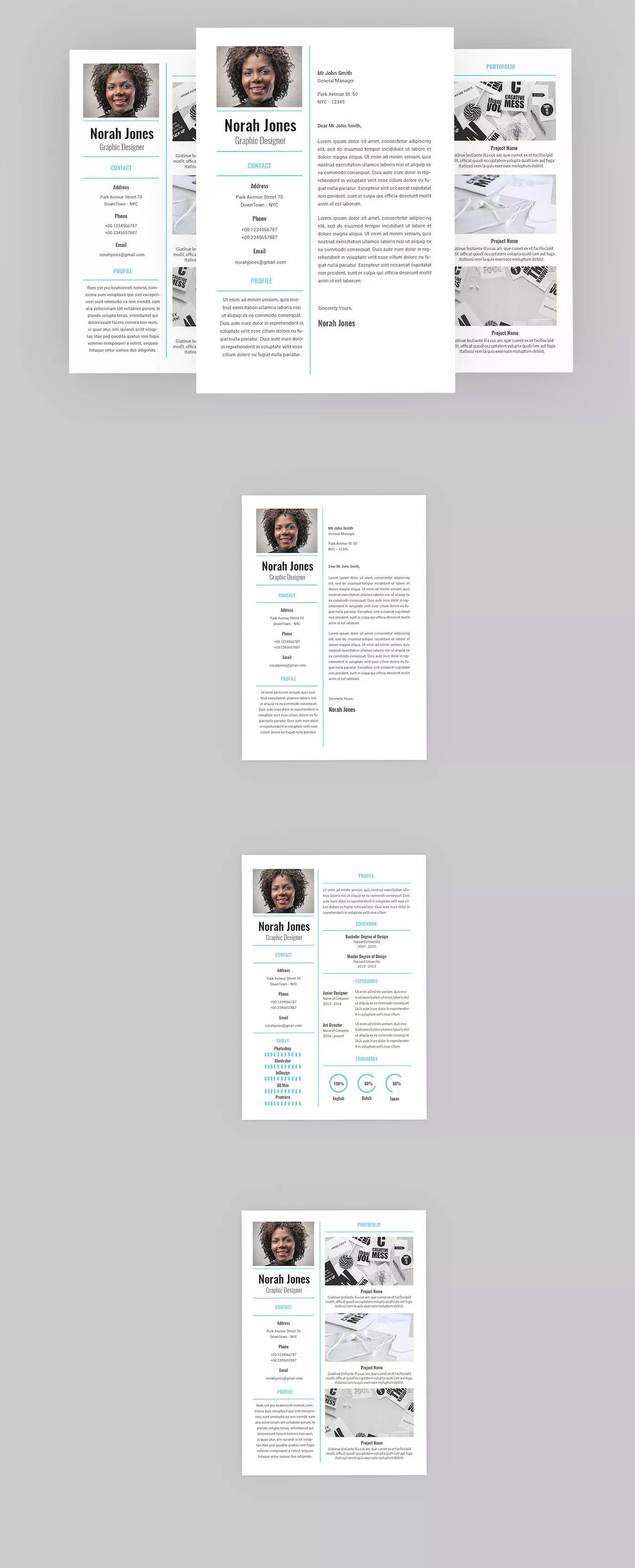 Dainty Resume Designer Template InDesign INDD Download