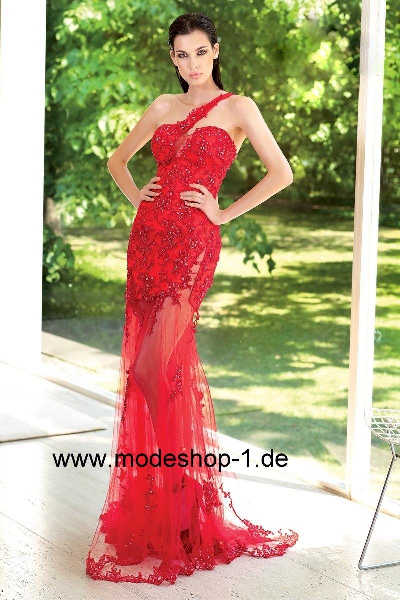 Abend und Party Kleid in Rot von www.modeshop-1.de | Abendkleider ...