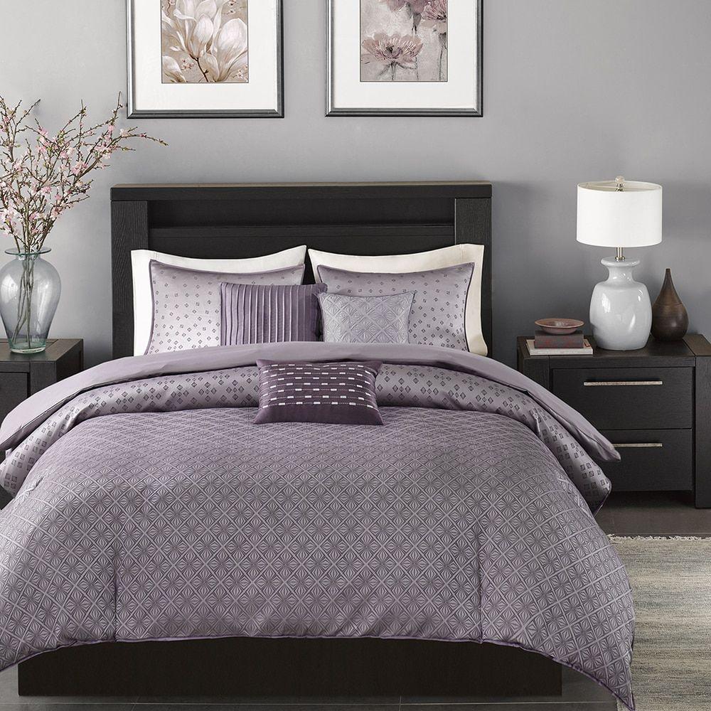 and grey comforter vella pin duvet park set gray madison piece
