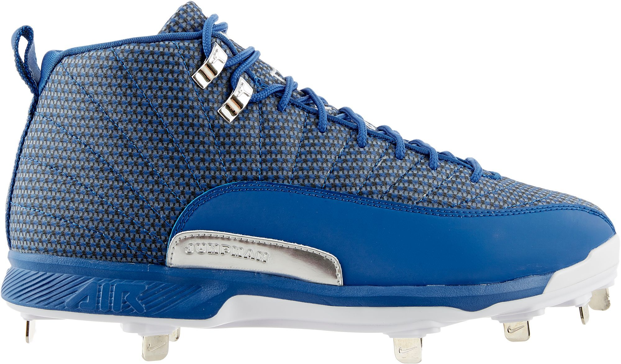 competitive price c21bd 617fe Jordan Men s XII Retro Metal Baseball Cleats, Size  16, Blue