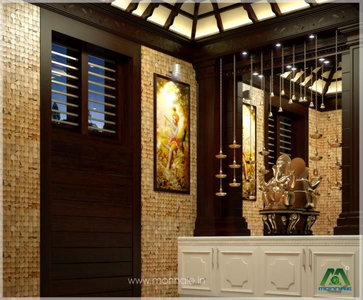Pooja room Design in 3D | puja room ideas | Pinterest | Room ...