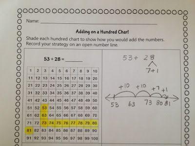 Math Coach S Corner Math Coach Math Addition Math Adding on hundreds chart worksheets