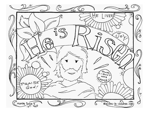 christian coloring pages for kids compliments of warren camp design - Religious Easter Coloring Pages For Adults