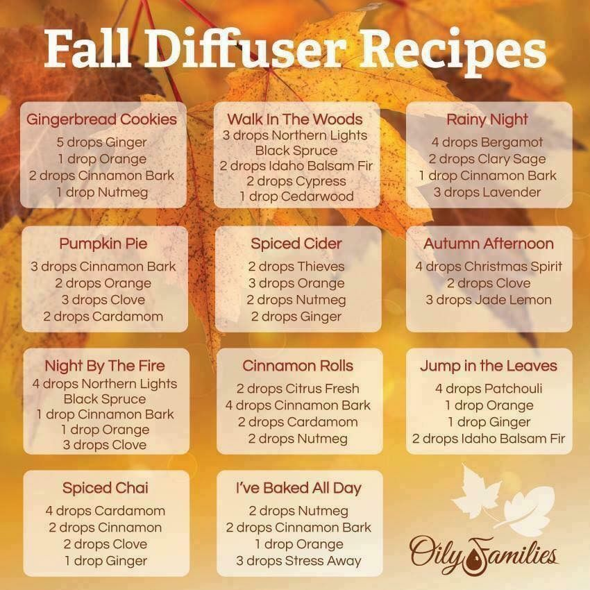 Fall diffuser blends , autumn aroma , young living