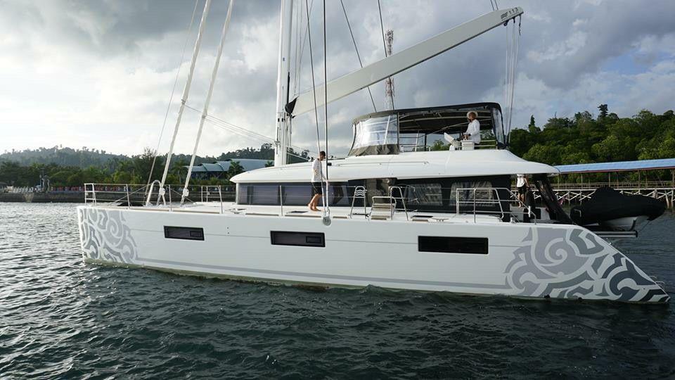 Meridian Adventures Catamaran Vinyl Wrap Catamaran Yacht Luxury Yachts