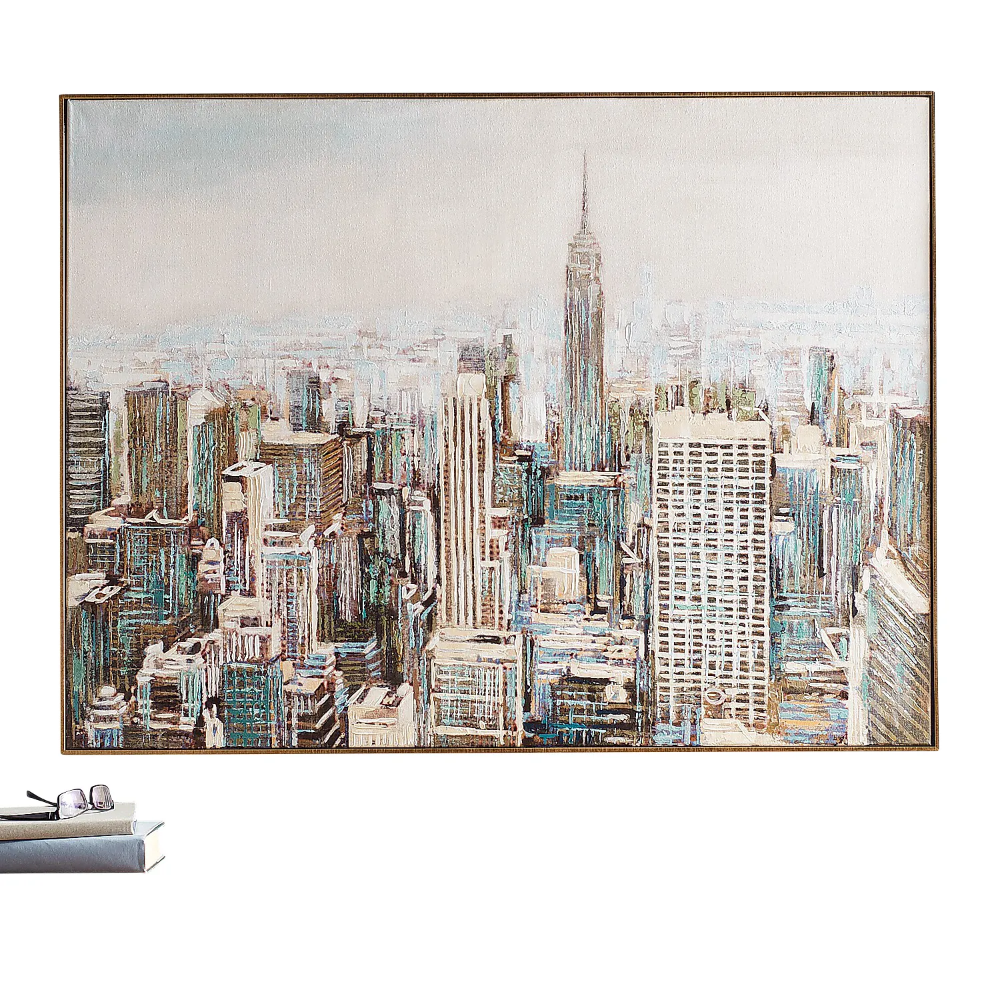 Big City Skyline Framed Canvas Wall Art Pier 1 Framed Canvas Wall Art City Framed Art Wall Art Canvas Painting