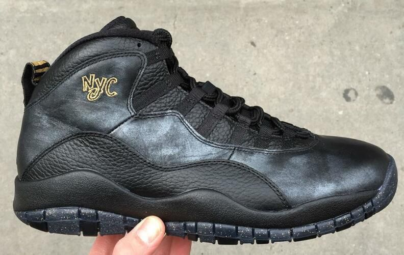 842c8fa88dc317 Air Jordan 10 NYC Black Black-Dark Grey-Metallic Gold Coin