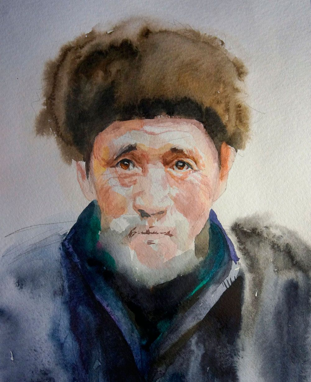 это портрет акварелью пошагово фото разлетевшихся