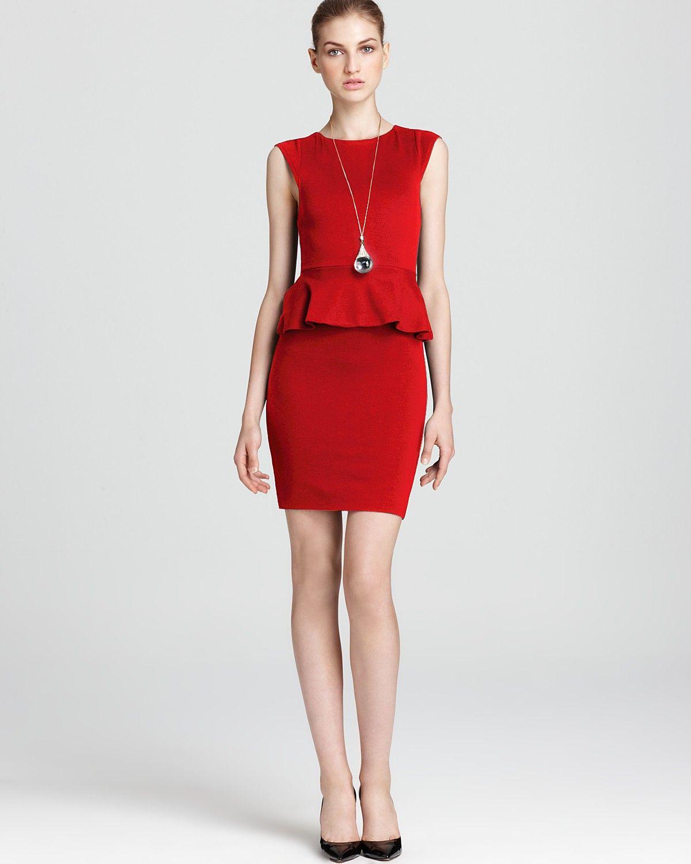 Alice + Olivia Dress - Exclusive Victoria Peplum   Bloomingdale's