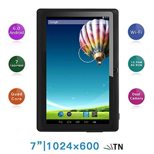 Haehne 7 Inch Tablet PC, Google Android 6.0 Quad Core, 1G