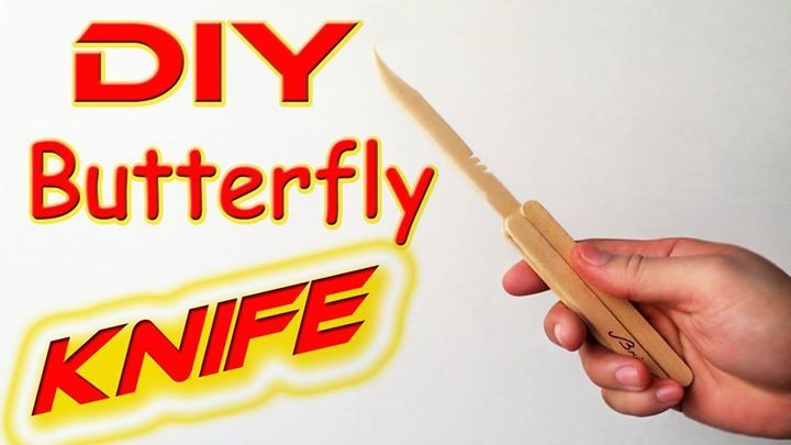 How To Make a Butterfly Knife using 7 popsicle sticks Check out the full project https://www.youtube.com/watch?v=DIJJjZtfPtI Don't Forget to Like Comment and Share! - http://ift.tt/1HQJd81