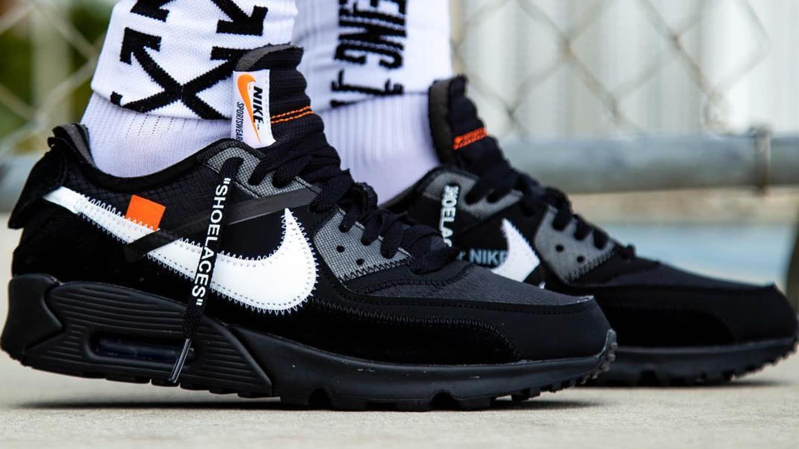 Super Deals OFF WHITE X Nike Air Max 90 BlackCone White