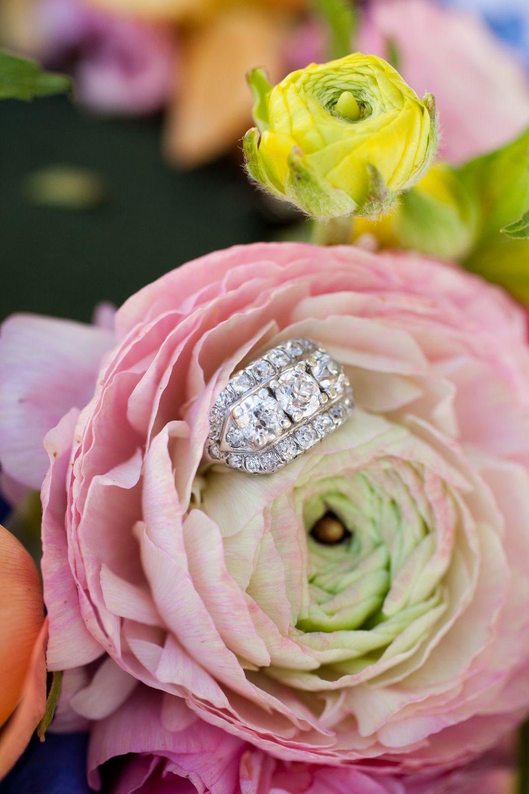 spring wedding ring display   Wedding Rings   Pinterest   Ring ...
