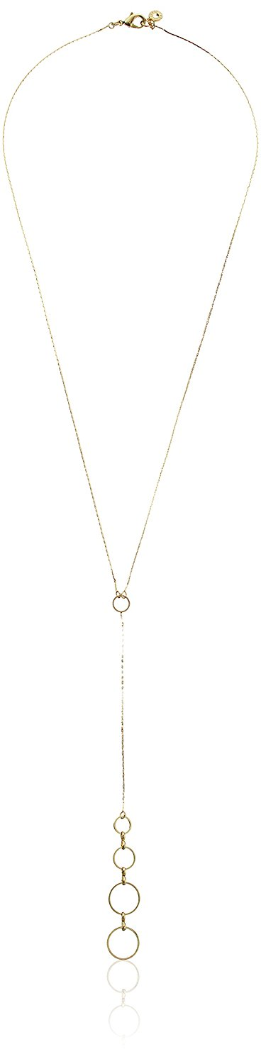 Anne Klein 'Metal Meaning' Double Drop Open Circle Pendant ...