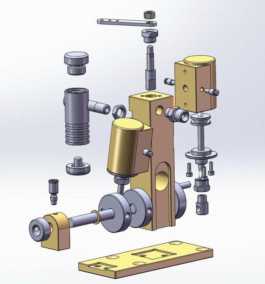 Mini Turboprop Engine: New Twin Cylinder Marine Steam Engine