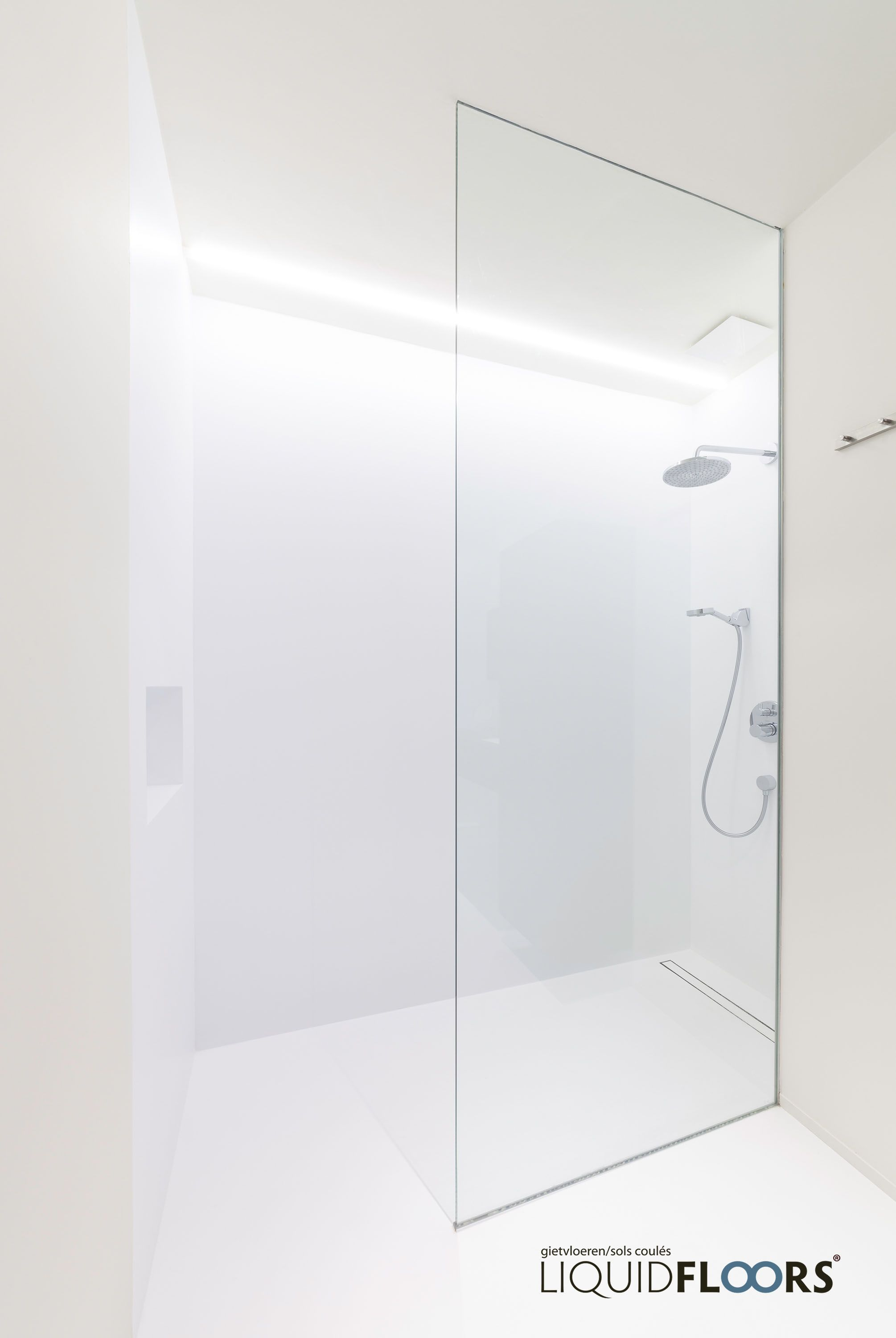 Liquid Bathing by LiquidFloors. Color: Winter Ice Seamless connection between…