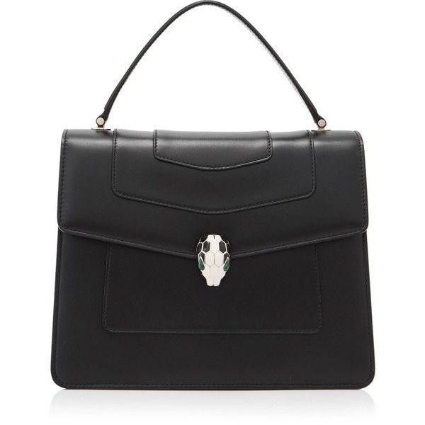 Bvlgari Serpenti Forever Top Handle Bag (113,660 THB) ❤ liked on Polyvore  featuring bags, handbags, black, bulgari, bulgari handbag, hardware bag, ... aa361971283