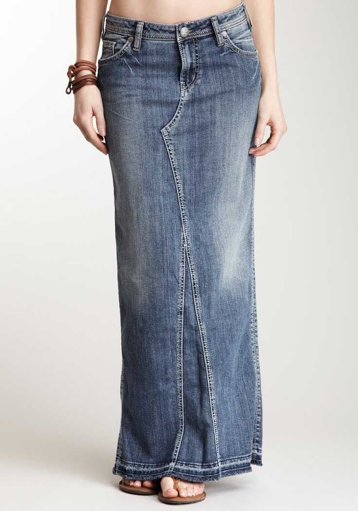 09b403518d7b6 The united pentecostal apostolic denim skirt -for the girl who isn t  allowed to wear pants.