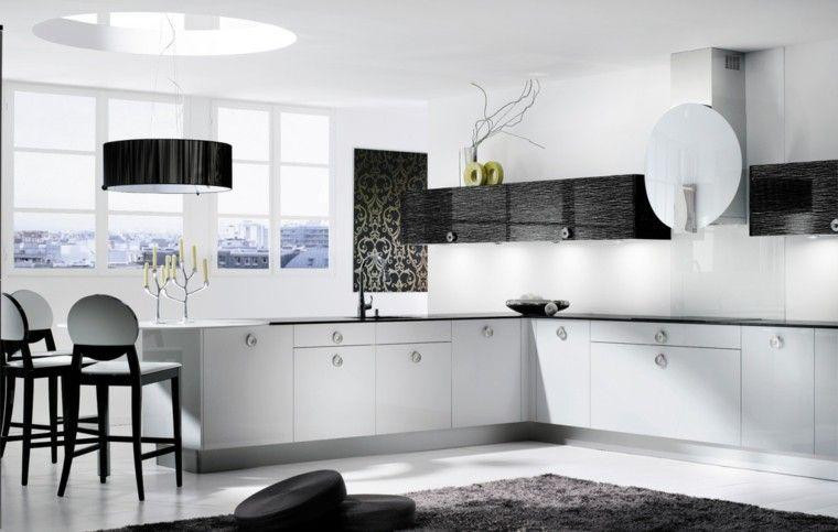 Cocinas Blancas Negras Diseño Ramas  Interiores Para Cocina Cool Black And White Kitchen Designs Design Ideas