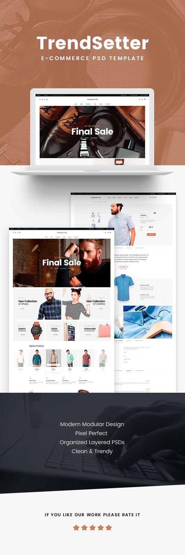 Trendsetter E Commerce Html Template Shopping Trend Setter Ecommerce Html Templates