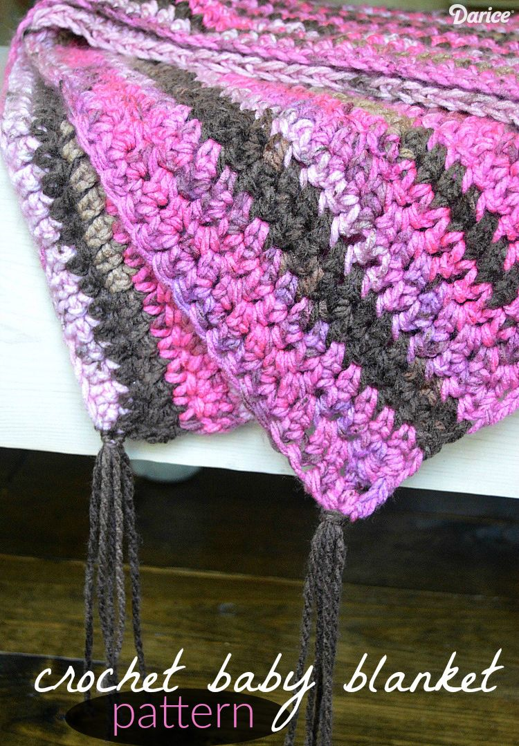 Crochet baby blanket tutorial with extended single crochet stitch crochet baby blanket tutorial with extended single crochet stitch darice baditri Image collections