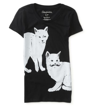 hey dolls go get your Feline Friends Graphic T - Aeropostale