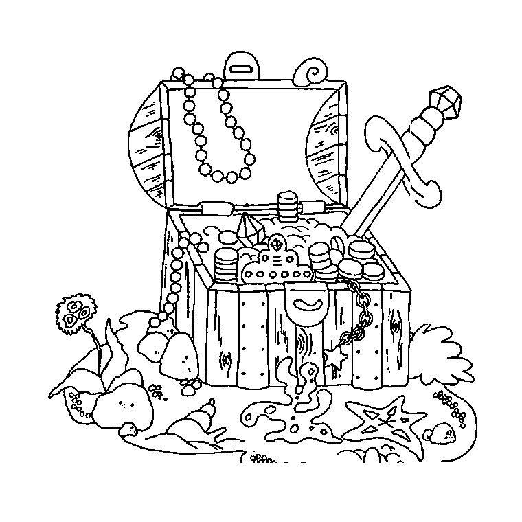 Dessin de pirate pour imprimer et colorier