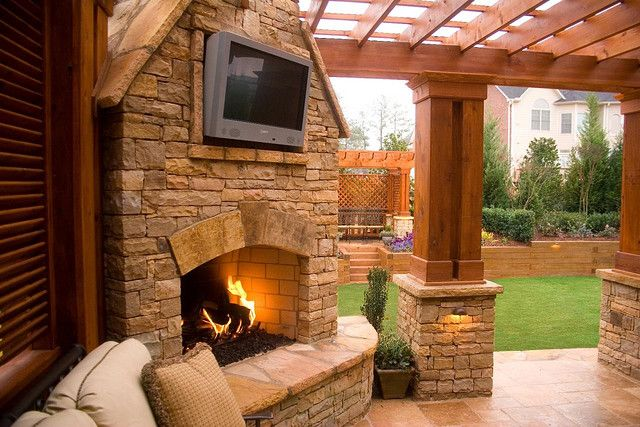 Duluth Fireplace And Outdoor Tv Outdoor Fireplace Designs