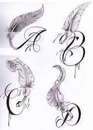 Tattoo feather letter angel wings 22 Ideas