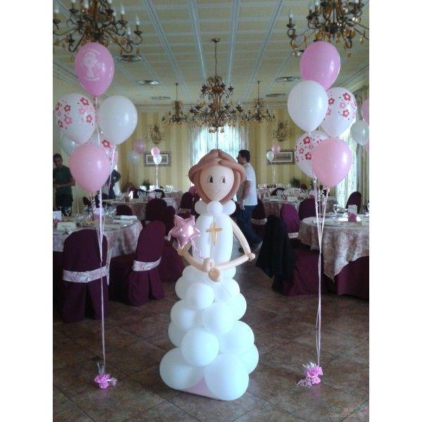 decoracion primera comunion con globos