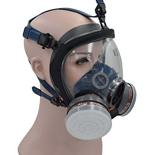 Facepiece Respirator Kit Full Face Gas Mask For Painting Spray Pesticide Chemical Fire Protection Be Friendly In Use Masks
