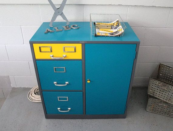 Cole Steel MidCentury Industrial File Cabinet By Rerunzvintageshop,
